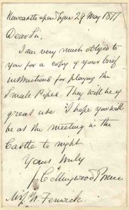 Bruce letter to Fenwick 29 May 1877 crop - lo-res 110k copy