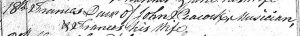 Frances Peacock christening - daughter of John and Frances - St Nicholas register 18 August 1786 - crop
