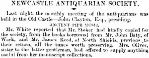 Reid [Reed] + Oliver tune books - Society of Antiquaries - col 2 - Newcastle Journal 07 Aug 1862 - crop lo-res