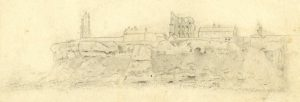 Robert Bewick drawing of Tynemouth - British Museum - crop