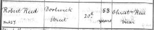 Robert Reed Burial Entry - Christ Church Parish Register p54 - 20 Jan 1837 - crop