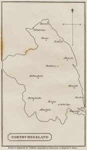 Northumberland - Cobbetts Geographical Dictionary of England + Wales by William Cobbett - 1832 lo-res