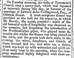 piper-at-collingwood-marriage-in-tynemouth-newcastle-courant-26-august-1842-col-3-crop