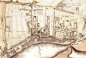 Woods 1826 tight crop showing dev of new town 1826